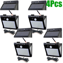 LED Separated 3 Sides Led Solar Light Outdoor Graden Lamp Light Outdoor Lighting 3Modes PIR Motion Sensor Outdoor Solar LightI