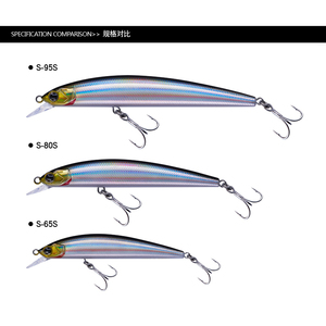 EWE Mino fishing lure 4.5g/6.7g/10.5g Alice Bass 65S/80S/95S NICEFISH fiish black minnow