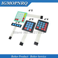 цена на 4 12 16 20 Key 1*4 4*3 4*4 4*5 Membrane Switch Keypad 1x4 3x4 4x4 4x5 Matrix Array Matrix keyboard for   car