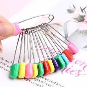 6/50 piezas alfileres de seguridad DIY costura Pin herramientas agujas de acero inoxidable Pin cojín pequeño broche Pin bufanda hebilla accesorios de ropa