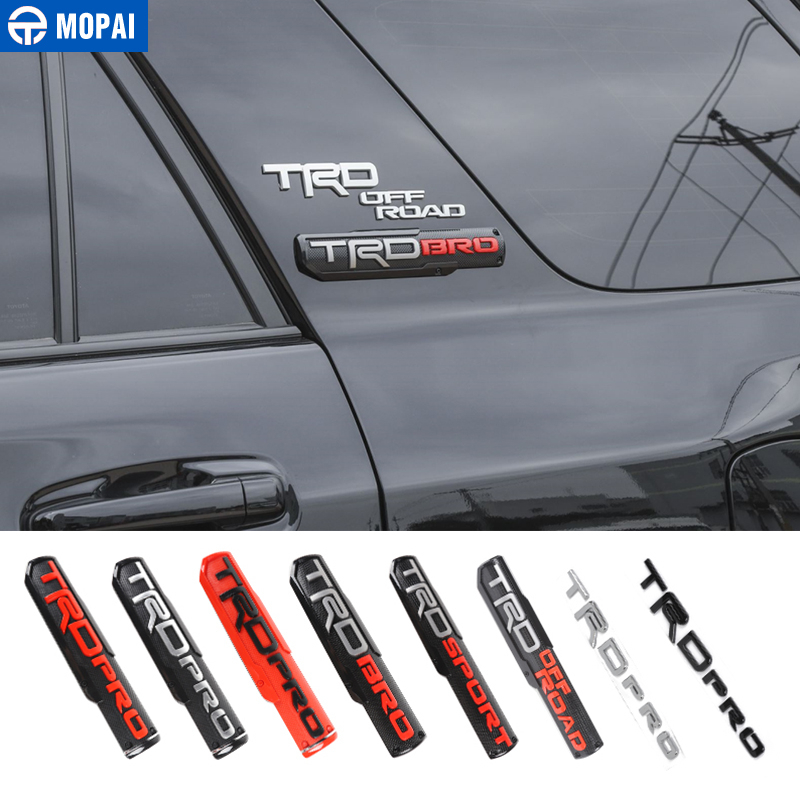 MOPAI Car Emblems for Toyota ABS TRD Emblem Badge Stickers Styling For 4Runner TUNDRA Accessories