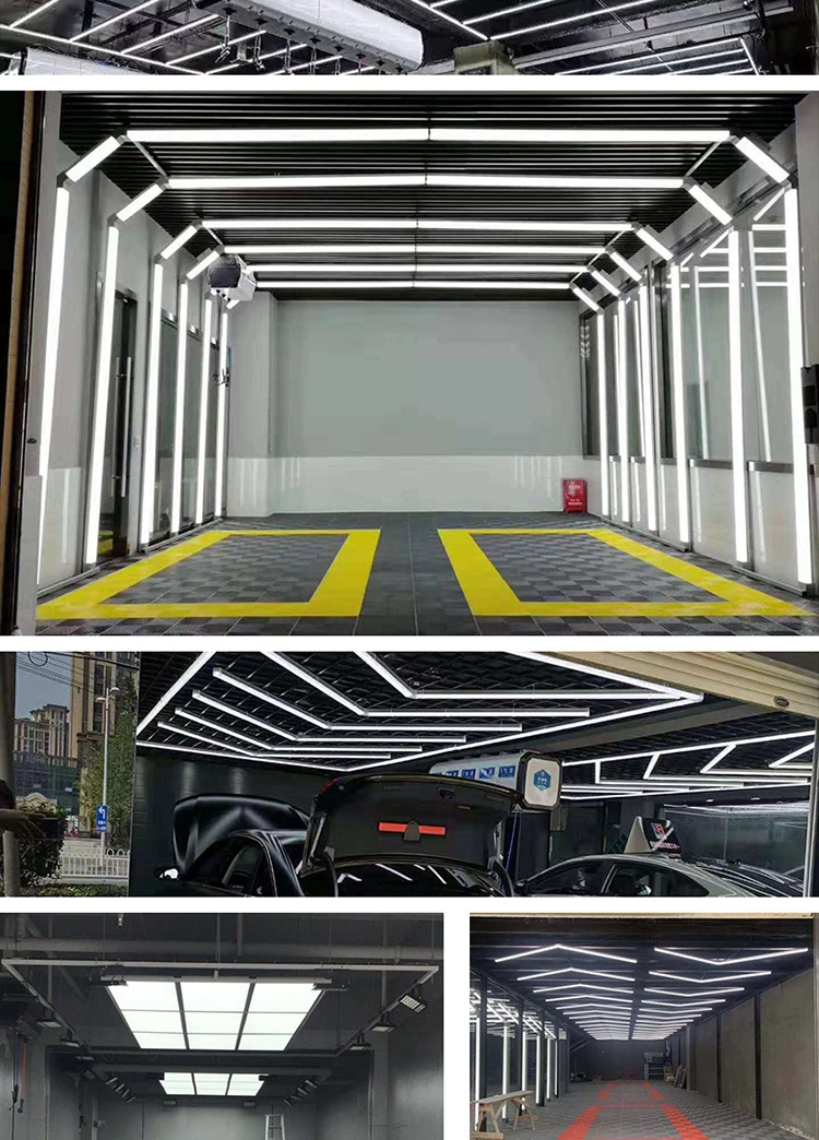 Tunnel 3d Car Wash Price China Industrial Linear Anti-glare Ceiling Light Car Care Cleaning