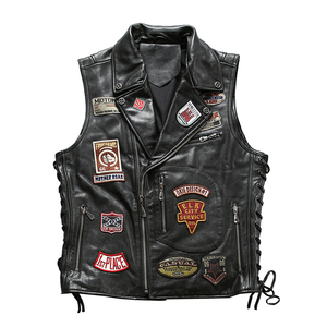 Image 1 - 22085 Read Description! Asian size good quality Cow skin vest mens cowhide leather stylish rider vest