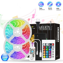 RGB LED Strip Light SMD 5050 5M Waterproof Intelligence Music Tape DC12V Led Strips Light Flexible Stripe Lamp IR WIFI Controlle