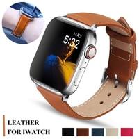 Pasek na pasek do apple watch 44mm 40mm pasek do zegarka apple watch 5 4 3 2 1 klasyczny skórzany bransoletka pas iwatch 42mm 38mm akcesoria