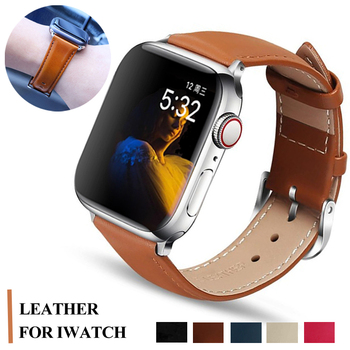 Strap for Apple watch band 44mm 40mm watchband apple watch 5 4 3 2 1 classic leather bracelet belt iwatch 42mm 38mm Accessories