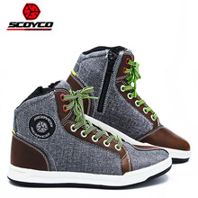 Motorcycle Shoes SCOYCO Riding-Boots Protective Touring Casual ATV Breathable Ankle MTB