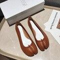 BOLOLIA 2020, zapatos de mujer de boca baja a la moda de alta calidad, zapatos planos de ballet, zapatillas de ballet informales con punta abierta