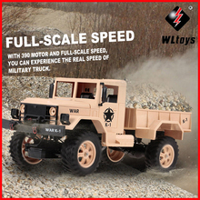 WLtoys 124302 1:12 RC Car 2.4GHz 4WD Full-Scale Speed 1200G Load Military Off-road for Beginners Toys Children