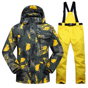 New Hot Ski Suit Men Winter New Outdoor Windproof Waterproof Thermal Male Snow Pants Sets Skiing And Snowboarding Ski Jacket Men trvlwego outdoor ski suit men s windproof waterproof thermal snowboard snow skiing jacket and pants sets winter sports clothes