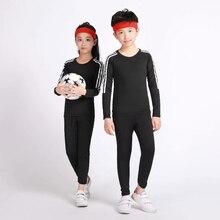 Детские тренировочные штаны, компрессионная одежда для бега, быстросохнущие эластичные колготки, Детская футбольная Баскетбольная одежда