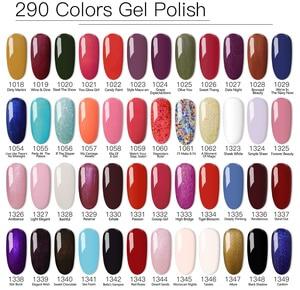 Image 5 - 100pcs uv gel nail Soak Off lDO  Gel Polish For free shipping Gorgeous 290 colors gel nails