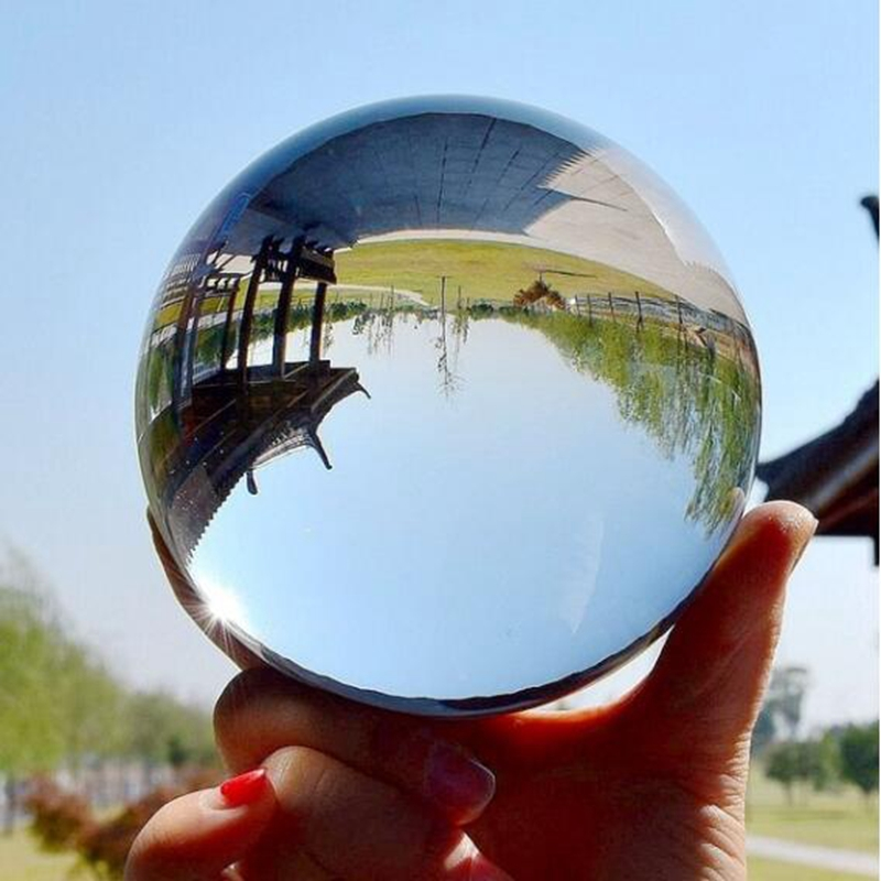 Clear Glass Crystal Ball Healing Sphere Photography Props Photo Gifts 30-50mm AU Home Decoration Transparent Light Ball