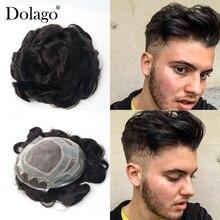 "8X1"" французское кружево спереди моно центр поли периметр волос заменить мужчин t система Repace мужчин t волос протезирование мужские парик системы долаго"