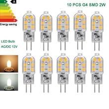 10x g4 светодиодный cob лампы 2 Вт капсулы теплый/холодный белый