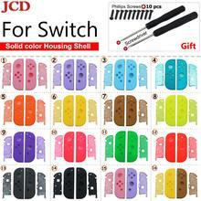 JCD DIYเปลี่ยนพลาสติกสำหรับJoy Conชุดซ่อมเคสฝาครอบShellสำหรับNintendo Switch Controllerไขควงสกรู