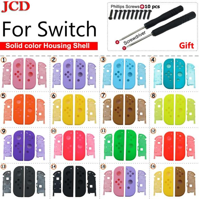JCD DIY Plastic Replacement for Joy Con Repair Kit Case Cover Housing Shell for Nintend for Switch Controller Screwdriver screws