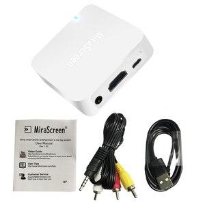 Image 3 - MiraScreen X7 G2 coche TV Dongle receptor inalámbrico Wifi HDMI Miracast HDTV de pantalla para el iPhone 11 para Huawei P20 ios Android