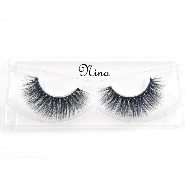 False Eyelashes hand made winged black band mink lashes black cotton stalk natural long eye lash reuse daily eye extension-lisa 4