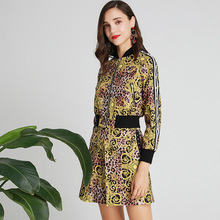 SEQINYY High Quality Suit 2020 Summer Spring New Fashion Design Women Short Jacket + Mini Skirt Vintage Leopard Set
