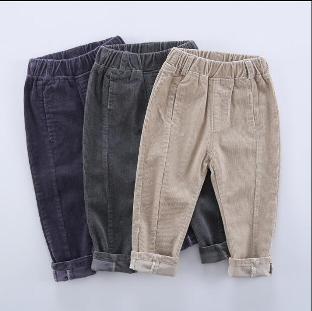 2020 Hot Sell Children Corduroy Trousers Boys Girls Long Cotton Trousers Spring Autumn Casual Pants Girls Kids Crawlers Clothing 1