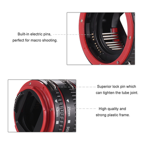 Image 2 - Andoer Macro Extension Tube Adapter Ring for all Canon EF EF S mount lenses TTL and autofocus Plastic macro extension tube canon
