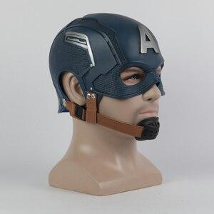 Image 2 - Cosplay Captain Mask America Civil War Mask Halloween Helmet Latex Mask Cosplay Costume