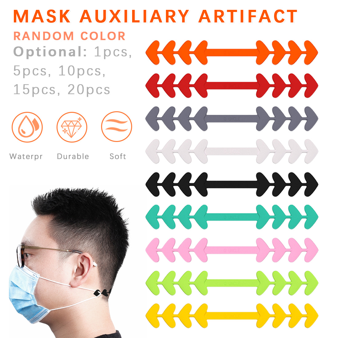 Mask Extension Strap Colorful Ear Hook Mask Extender To Release Your Ear And Relieve Pain Adjustable Mask Rope Extension Buckle