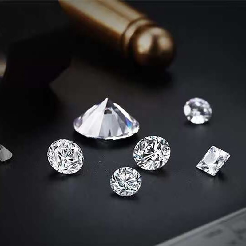 BOEYCJR 0.442ct E Color Lab Grown Diamond HPHT SI1 Round Brilliant Cut Loose Stone Excellent Cut Jewelry Making Stone