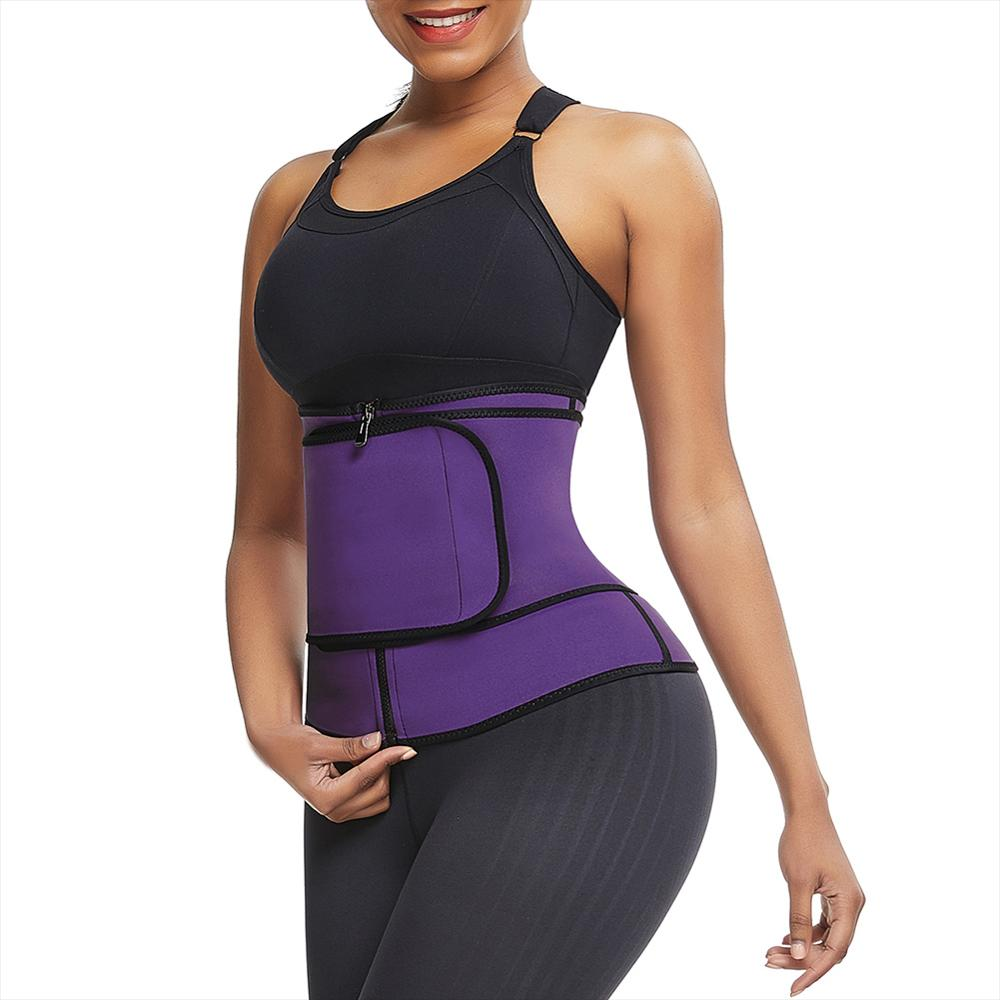 3 Steel Bones Neoprene Sauna Waist Trainer Corset Sweat Belt For Women Weight Loss Compression Trimmer Workout Fitness Wholesale