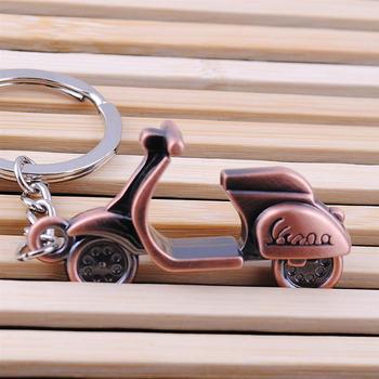 Antyczny brąz Plated skuter 3D Auto samochód urok brelok motocykl pedał brelok osobowość motocykl pilot tanie i dobre opinie Bonytain CN (pochodzenie) STOP Motorcycle Pedal Key Chain Motorcycle Keychain