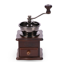 Retro Manual Coffee Grinder Spice Grinder Coffee Machine Home Decoration Accessories Hand Mill For Coffee Beans Kitchen Tools manual coffee grinder wood metal hand mill spice mill wood color