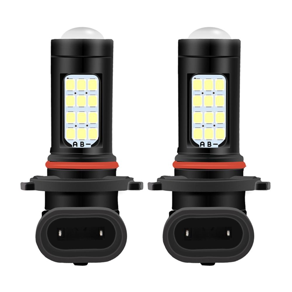 Bombillas LED de luz antiniebla para coche, lámpara de luz LED H8 H11 HB3 9005 HB4 9006 H7 PSX24W 2504 5202 H16 PSX26W, 1800LM, 6000K, blanco, 3000K, DC12-24V, 2 uds.