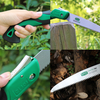 LAOA Portable Folding Saw 7T/12T Hand Saw 250mm Pruning Shears Serra Gardening Tool Hunting Implement 4
