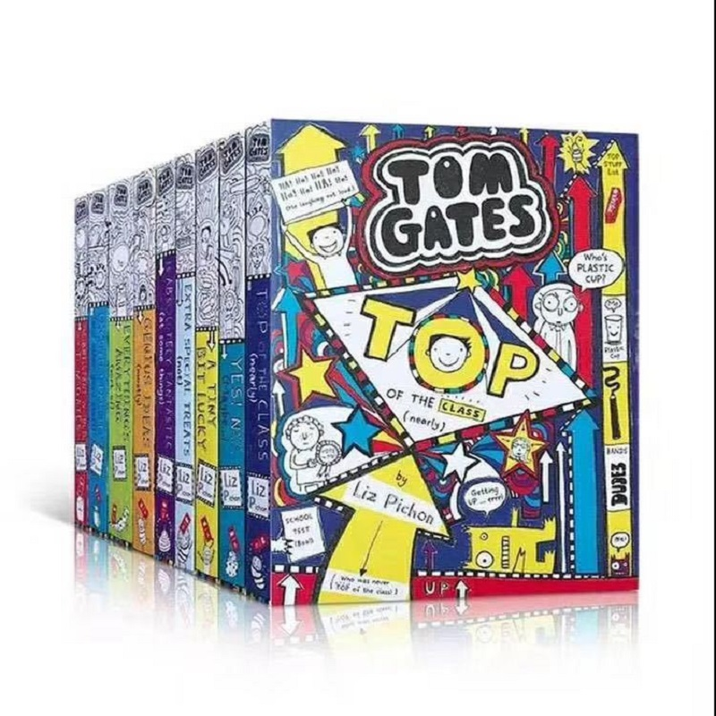 10 Books/set Tom Gates 5-12 year Children's English story book  Special english picture help child be reader early education