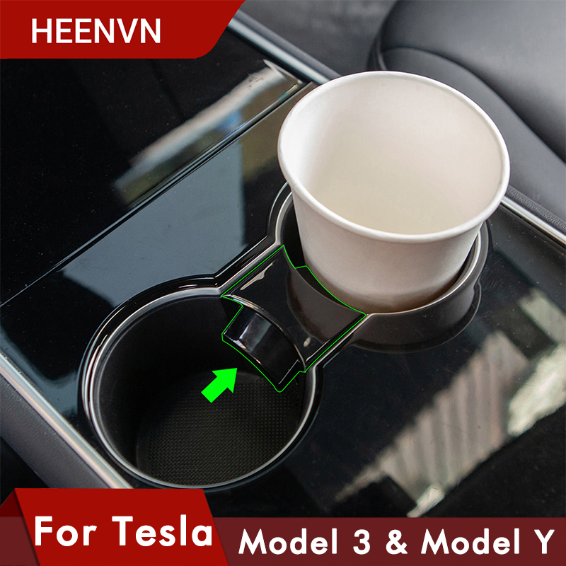 Heenvn Model Y Cup Holder Clip Car Water Cup Slot Slip Limit Clip For Tesla Model 3 Accessories Model3 Model Three ModelY 2020