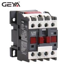 GEYA CJX2-0910 1210 1810  Din Rail Magnetic Contactor 220V or 380VAC Contactor 3Pole 9A 12A 18A 1NO LC1D-09 Contactor dc contactor cjx2 0910 01 dc12v dc24v dc36v dc110v dc220v