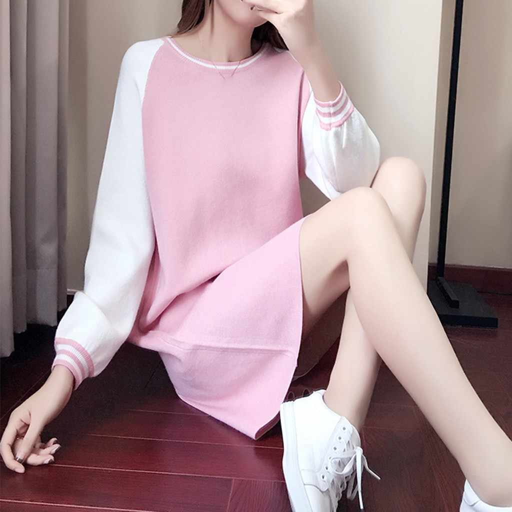 Women Dress Fashion Korean Style Full Sleeves Casual A Line One-Piece Frock  Slim Dress with Long Sleeve Collar Korean Style#G5