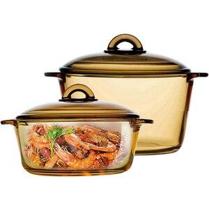 Стеклянный Горшок для супа, салат, мгновенная лапша, тушеная кастрюля, кухонный Прозрачный Горшок для здоровья, кастрюля, Корейская кухонна...