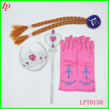 Birthday party decoration kids Childrens toys Cosplay Prop snow country crown prince a peach heart wig braid scepter gloves