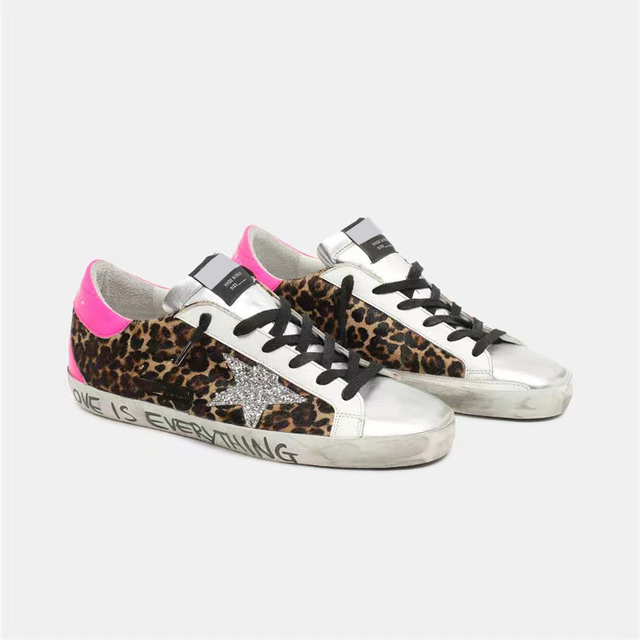 Spring/Autumn  New Children's  Leopard Print Horsehair Retro Dirty Dirty Kid Shoes Sequined Stars Casual Parent-child Shoes QZ22 2
