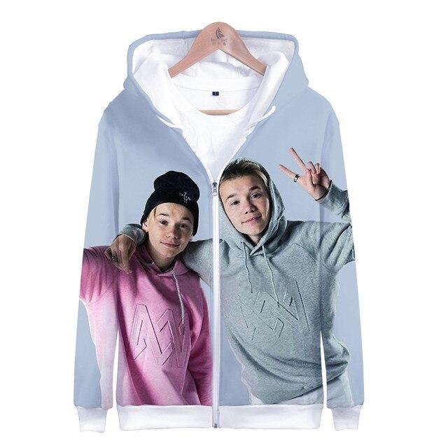 3 To 14 Years Kids Hoodie Marcus and Martinus 3D Hoodies Sweatshirt Boys Girls Fashion Harajuku Jacket Coat Children Clothes 4