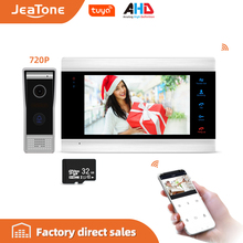 JeaTone Smart WiFi Tuya 7 Home Video Door Phone System with Voice Message/Motion Detection/MP4 Player, Support Remote Control
