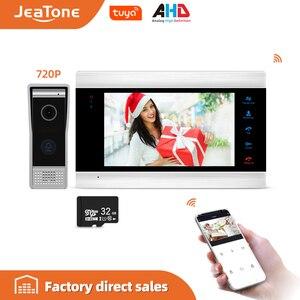 Image 1 - JeaTone Smart WiFi Tuya 7 Sistema di Home Video Telefono Del Portello con Messaggio Vocale/Motion Detection/MP4 Lettore, supporta il Controllo Remoto