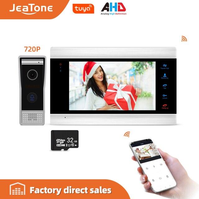 JeaTone Smart WiFi Tuya 7 Sistema di Home Video Telefono Del Portello con Messaggio Vocale/Motion Detection/MP4 Lettore, supporta il Controllo Remoto