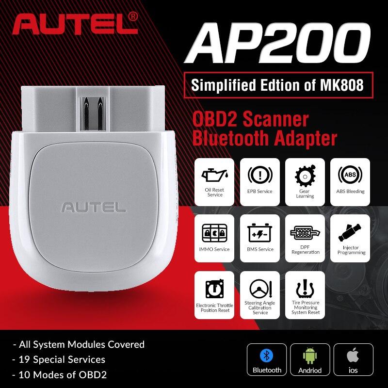 Autel AP200 Bluetooth OBD2 сканер считыватель кодов полная система диагностический инструмент диагностический сканер PK MK808 easydiag 3,0 ThinkDiag