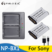 2Pcs NP-BX1 battery Pack NP BX1 NPBX1+Dual bateria charger For Sony HDR-AS200v AS15 AS100V DSC-RX100 X1000V WX350 RX1
