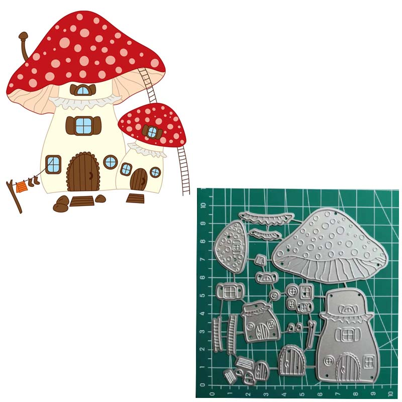 2019 Christmas Mushroom House Metal Cutting Die Cuts For Card Making Photo Album Decorative Embossing DIY Paper Cards|Cutting Dies| - AliExpress
