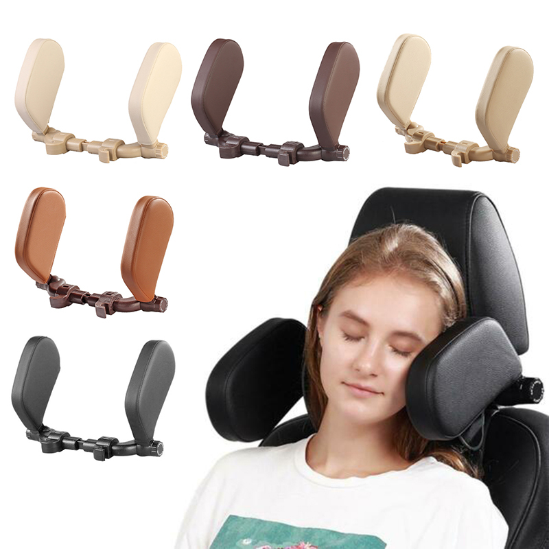 U-shaped Pillow Car Seat Headrest Pillows Travel Rest Comfortable Safety Neck Pillow Leather Head Cushion For House Outdoor Car
