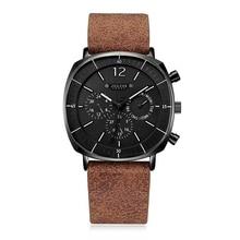 Men Business Sports Watches Swiss Quartz Movement Calendar Waterproof Watch Mens Fashion Leather Band Stainless Clock New Wacht